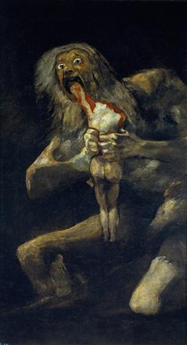 Saturn Devouring His Son - Francisco Goya