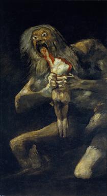 Saturno che divora suo figlio - Francisco Goya