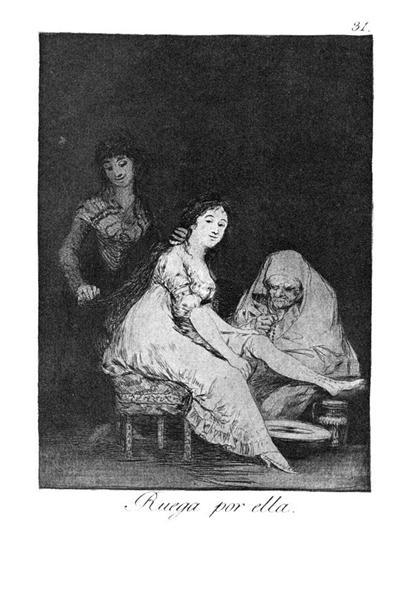 She prays for her, 1799 - Francisco Goya