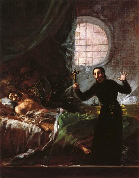 St. Francis Borgia Helping a Dying Impenitent, 1795 - Francisco Goya