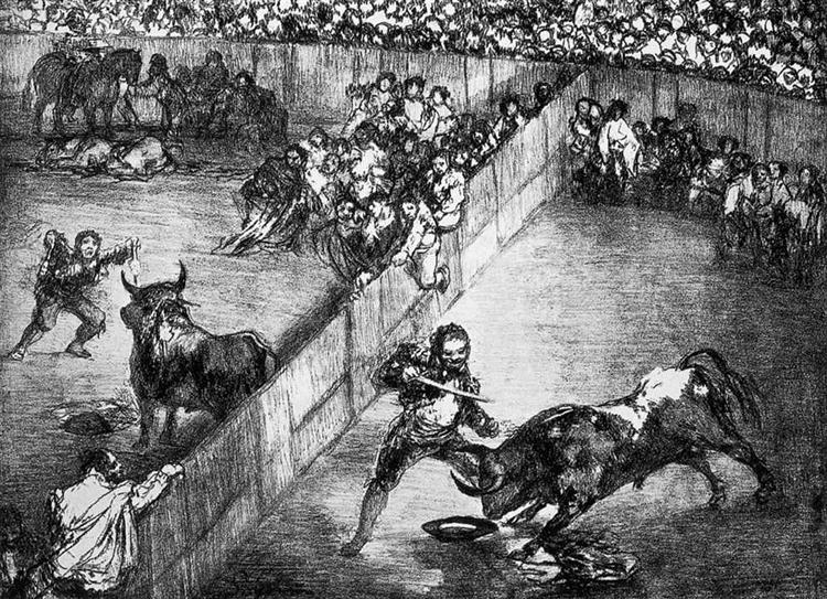 The Divided Arena, 1825 - Francisco Goya