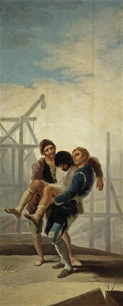The Injured Mason, 1786 - 1787 - Francisco Goya
