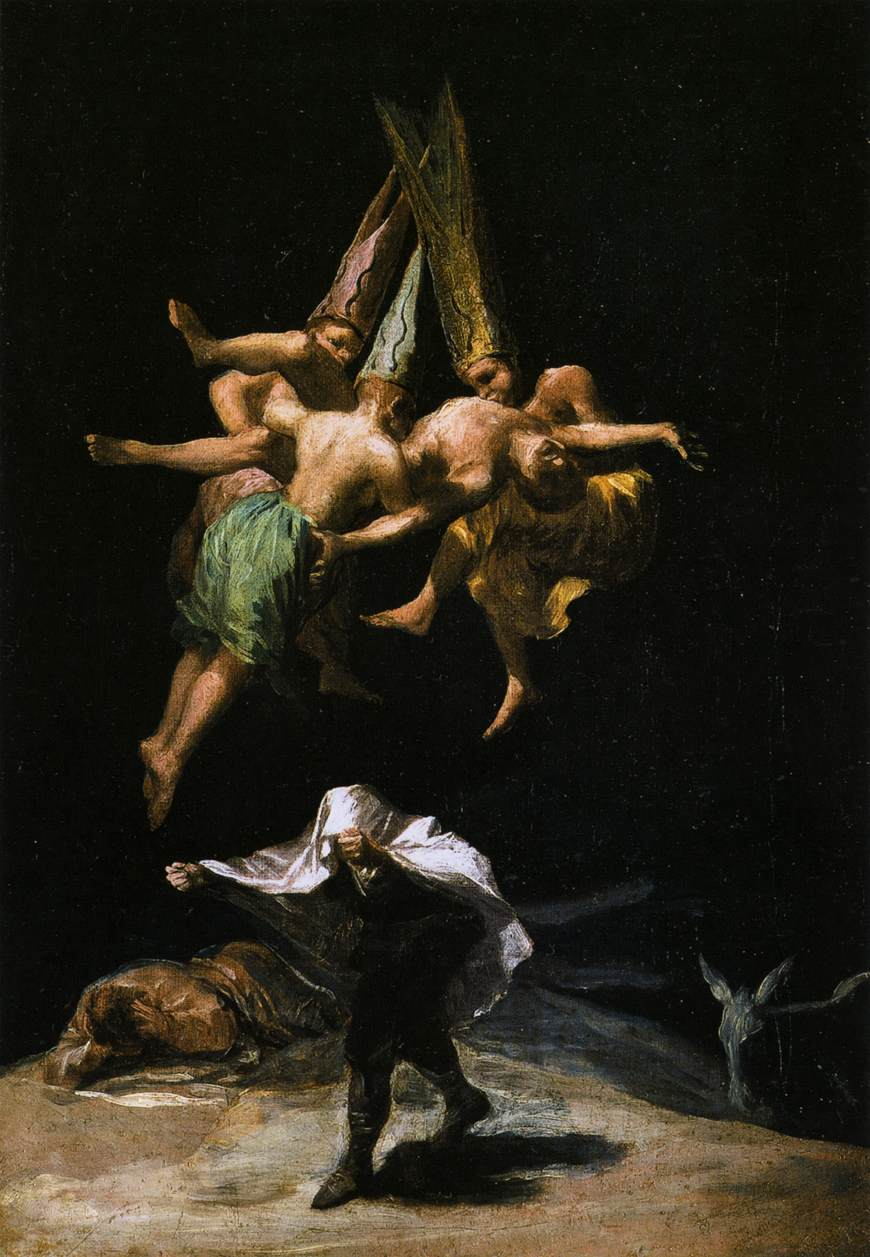 mental illness and art Goya Francisco de Goya, Witches in the Air