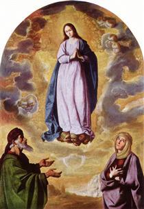 A Imaculada Conceição com São Joaquim e a Santa Ana - Francisco de Zurbarán