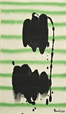 Deux noirs sur Raies Vertes, 1981 - Francois Arnal