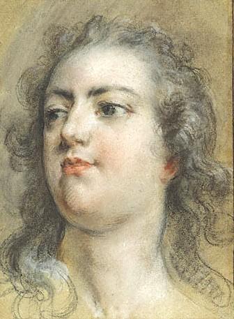 Head of King Louis XV, c.1729 - Francois Boucher