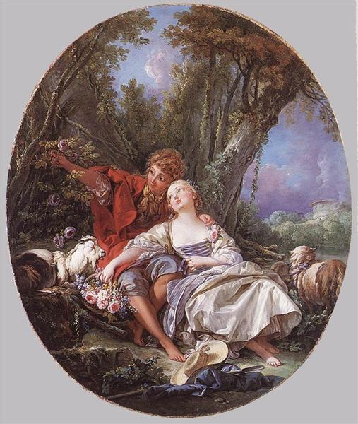 Shepherd and Shepherdess Reposing, 1761 - Francois Boucher