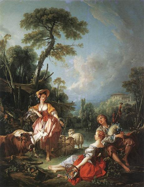 Summer Pastoral, 1749 - Francois Boucher