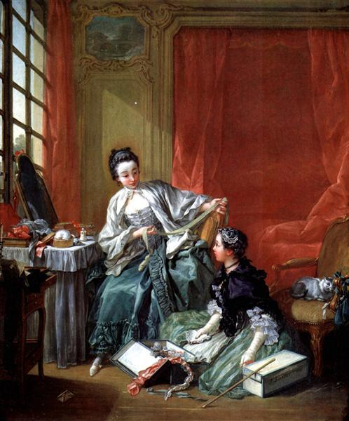 The Modiste, c.1746 - Francois Boucher