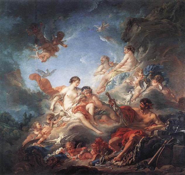 Vulcan Presenting Arms to Venus for Aeneas, 1756 - Francois Boucher