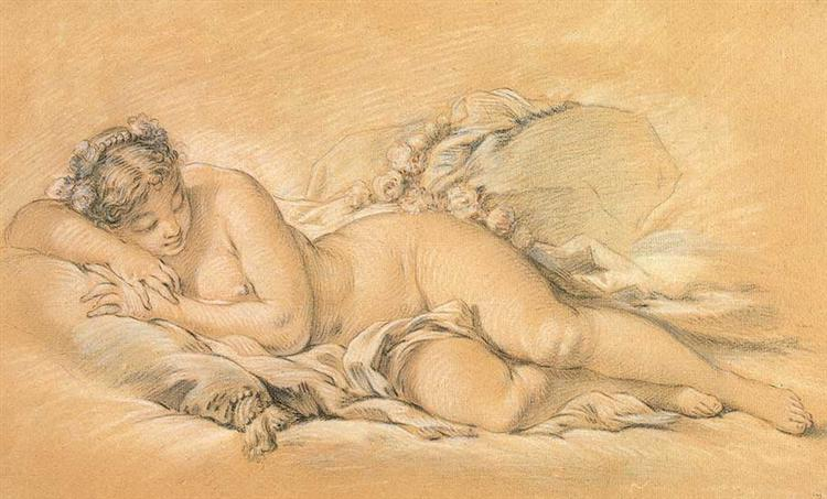 Young Woman Sleeping, c.1760 - Francois Boucher