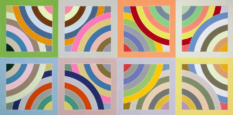 Tahkt i sulayman variation ii 1969 frank stella for Minimal art frank stella