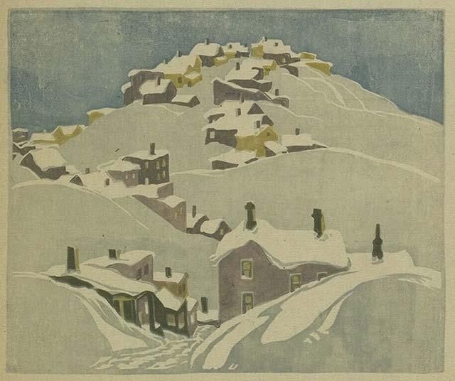 Houses, Cobalt, 1932 - Franklin Carmichael