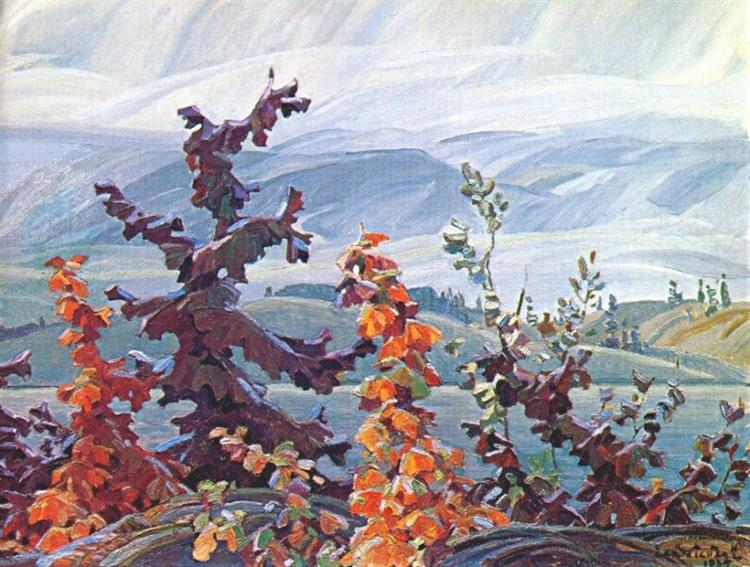 Scrub Oaks and Maples, 1935 - Franklin Carmichael