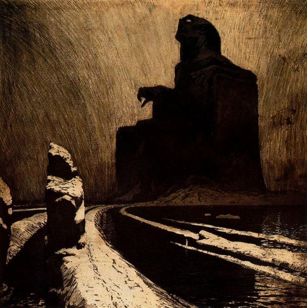 The Black Idol (Resistance), 1903 - Frantisek Kupka