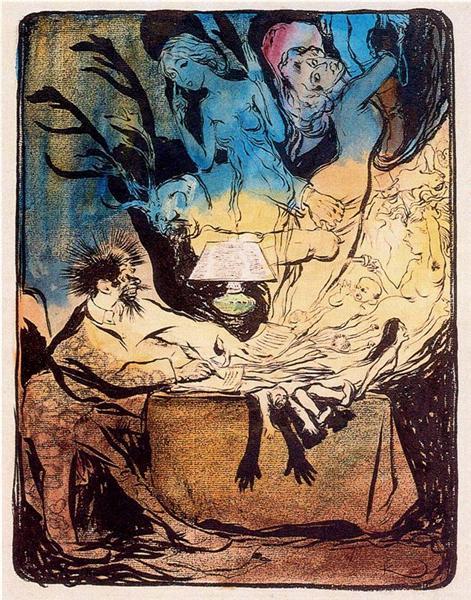 The novelist, c.1903 - Frantisek Kupka