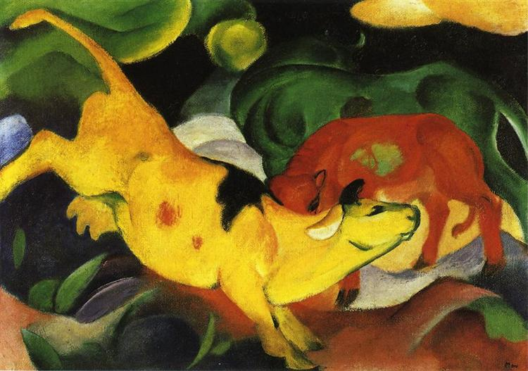 Cows, Yellow-Red-Green, 1912 - Franz Marc