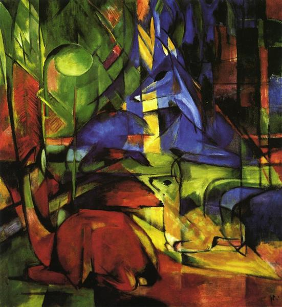 Deer in the Forest II, 1914 - Franz Marc