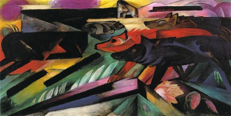 The Wolves (Balkan War), 1913 - Franz Marc