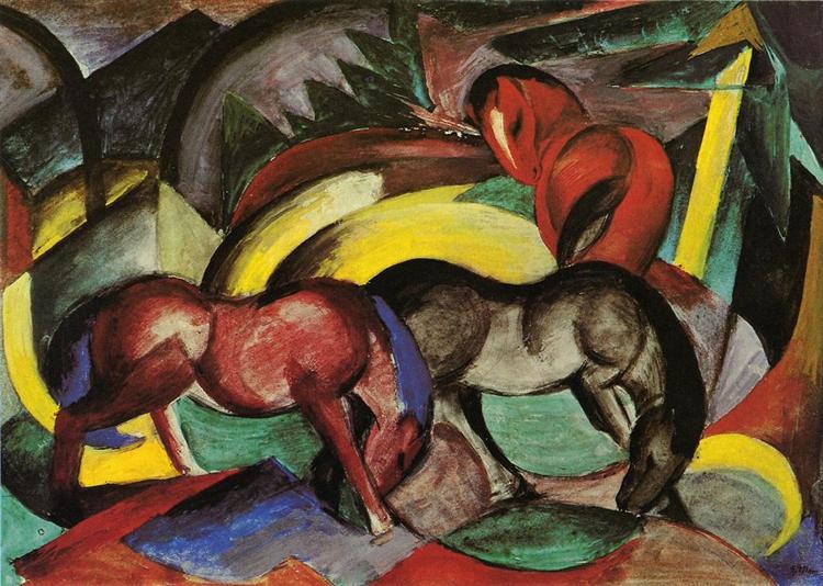 Three Horses, 1912 - Franz Marc