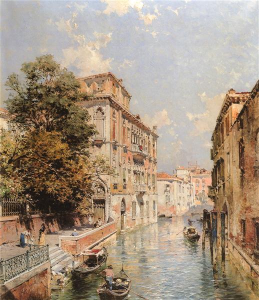 Una visión en Venecia, Río S. Marina - Franz Unterberger Richard