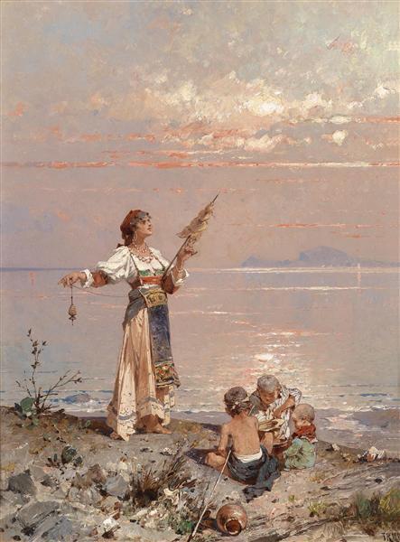 En la bahía de Nápoles - Franz Unterberger Richard