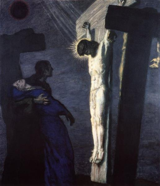 Crucifixion, 1913 - Франц фон Штук