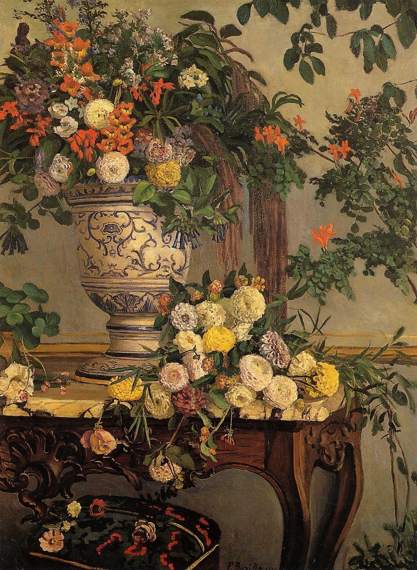Spring Flowers 1864 Claude Monet Wikiart