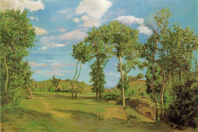 Landscape on the Shore of Lez, 1870 - Frederic Bazille