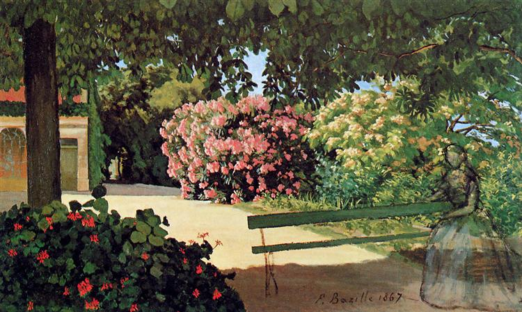 The Terrace at Méric (Oleander), 1867 - Frederic Bazille