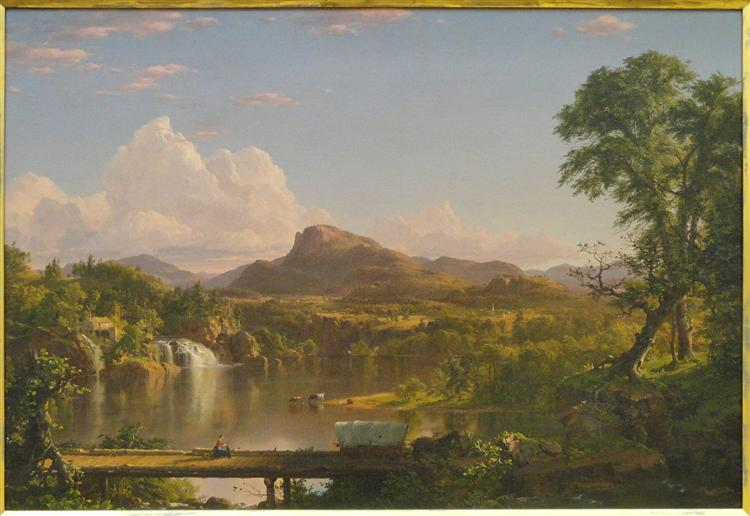 New England Scenery, Frederic Edwin Church, 1851
