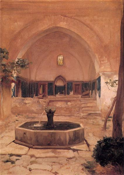 Courtyard of a Mosque at Broussa, 1867 - Frederic Leighton