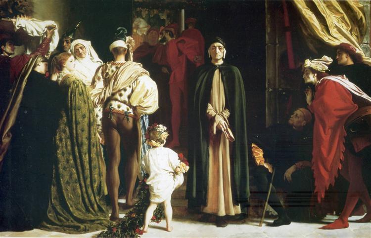 Dante in Exile, 1864 - Frederic Leighton
