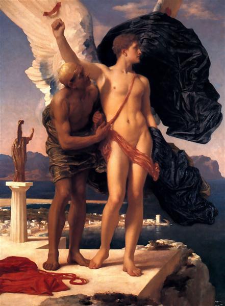 Icarus and Daedalus, c.1869 - Frederic Leighton