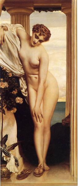 Venus Disrobing For The Bath, c.1866 - Frederic Leighton