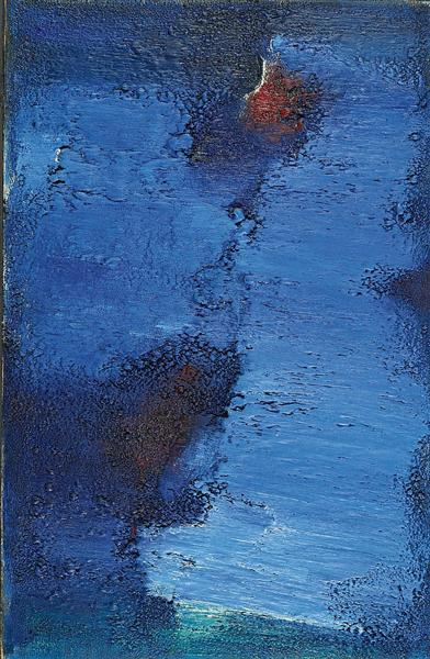 Untitled (Blue Field), 1961 - Frederic Matys Thursz