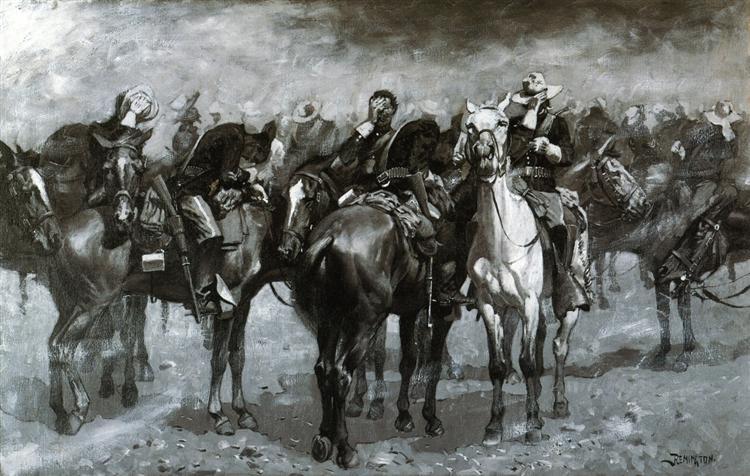 Cavalry in an Arizona Sandstorm, 1889 - Frederic Remington