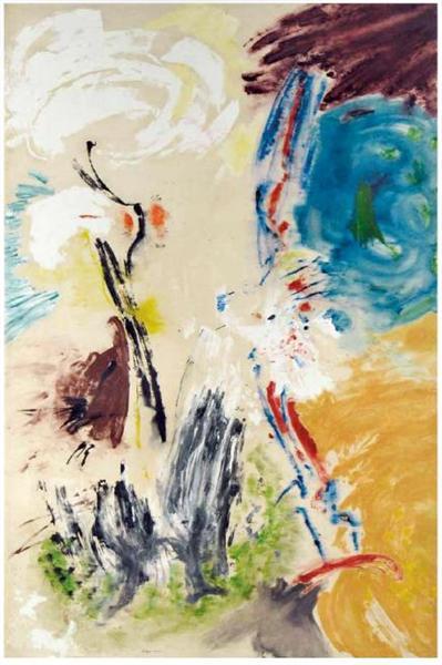 Untitled, 1953 - Friedel Dzubas