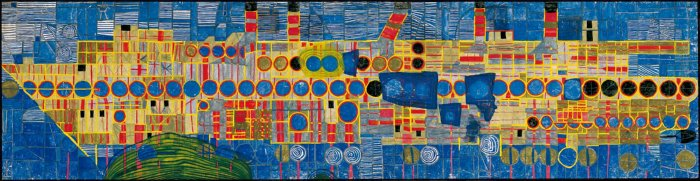 150 Singing Steamer in Ultramarine III, 1959 - Friedensreich Hundertwasser