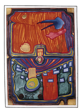 487A  Little Palace of Illness, 1970 - Friedensreich Hundertwasser