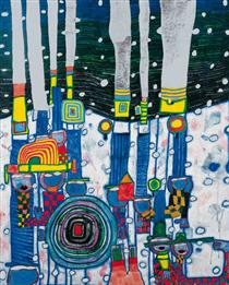 944 Blue Blues - Friedensreich Hundertwasser