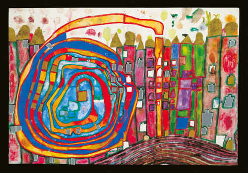 970 Who Has Eaten All My Windows, 1996 - Friedensreich Hundertwasser