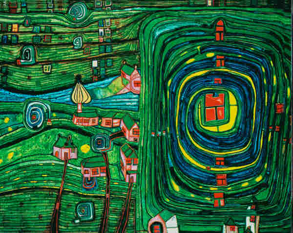 738 Grass For Those Who Cry, 1975 - Friedensreich Hundertwasser