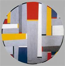 Relational Painting, Tondo #36 - Fritz Glarner