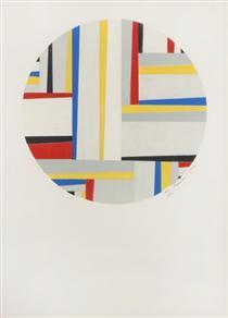 Relational Painting, Tondo #49 - Fritz Glarner