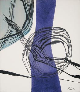 Kreisend vor Violett, 1970 - Fritz Winter