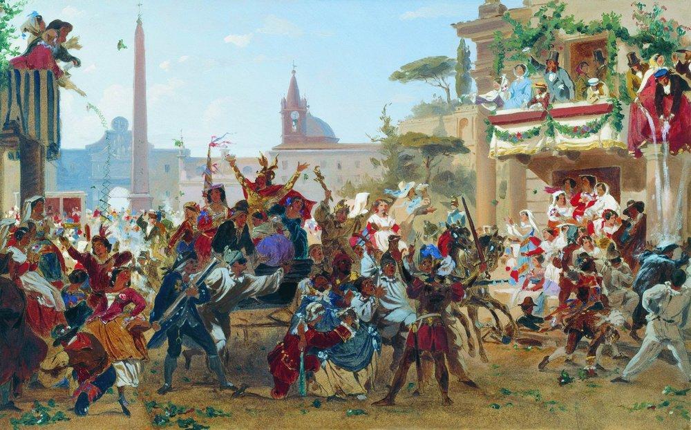 Carnival in Rome, 1860