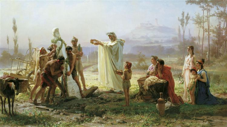 Consecration of the herm, 1874 - Fyodor Bronnikov