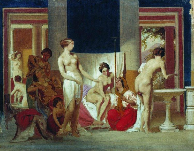 Private baths in Pompeii, 1868 - Fyodor Bronnikov