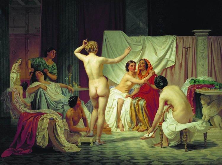 The Roman Baths, 1858 - Fyodor Bronnikov